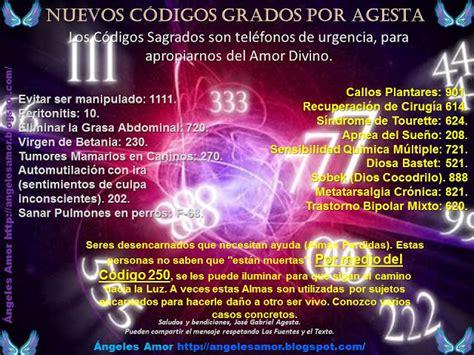 listado de codigos sagrados por agesta 193 ngeles amor c 243 digos sagrados para hoy mi 233 rcoles 30 de