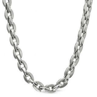 Kalung Oval Stainless Steel Necklace s oval link necklace in polished stainless steel 24 quot mens necklaces necklaces zales