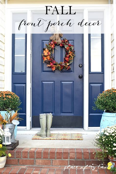front porch fall decor fall front porch decor place of my taste