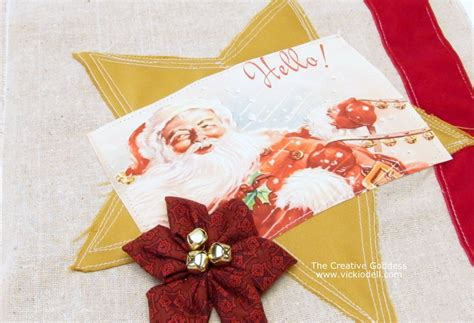 christmas crafts fabric gift bag