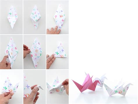 How To Make Things Out Of Paper Step By Step - paper bird la f 234 te