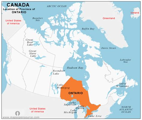 Call Lookup Ontario Free Ontario Location Map Location Map Of Ontario Province Canada Mapsopensource