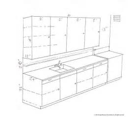 Kitchen Cabinet Standard Size by Standard Kitchen Cabinet Dimensions Drawing
