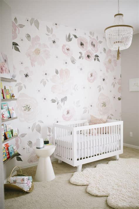 baby room wallpaper watercolor floral a match made in nursery heaven project nursery