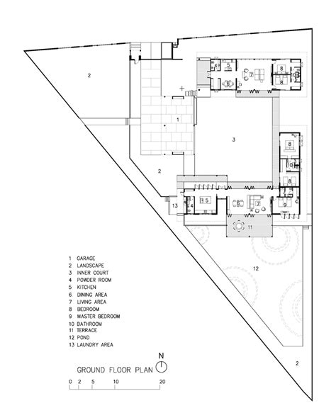 triangle floor plan the triangle house in bangkok