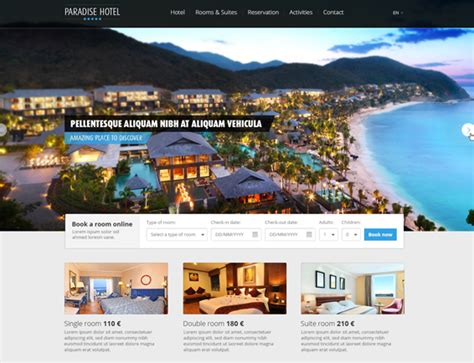 hotel template free free hotel website template freakify