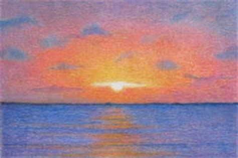 sunset colored pencil bartoe aceo colored pencil drawing quot sunset 4 quot
