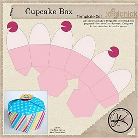 Origami Cupcake Box - 17 best ideas about gift box templates on