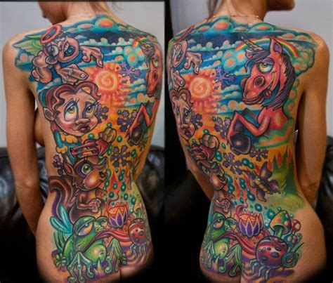 like a lisa frank acid trip i love it tattoo by josh