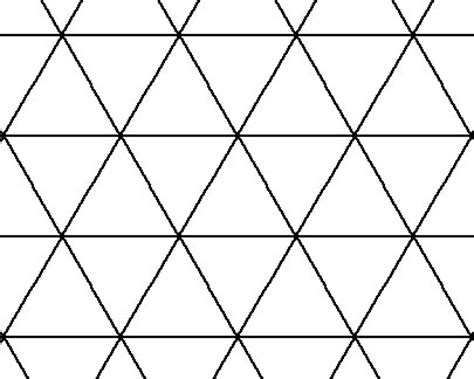 pattern for equilateral triangle tessellations