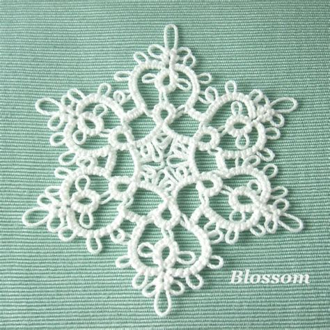 tatting ornament patterns handmade tatting lace ornament snowflake by