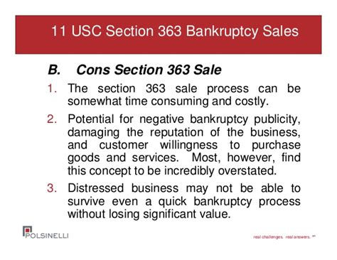 section 11 bankruptcy distressed asset sales both in bankruptcy and out of court