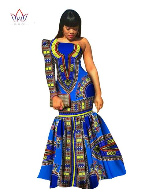 african print clothing for ladies fashion women dress asymmetrical offric dress brand
