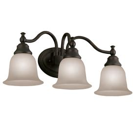 portfolio 3 light oil rubbed bronze bathroom vanity light buy portfolio 195 194 3 light brandy chase oil rubbed bronze