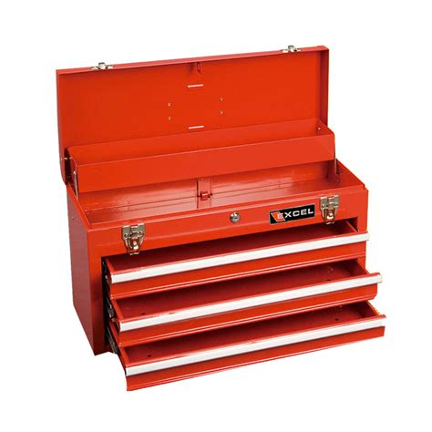 Portable Drawers by Excel 20 In Portable Tool Box With 3 Drawers