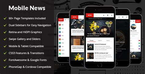 mobile news news mobile mobile template by enabled themeforest