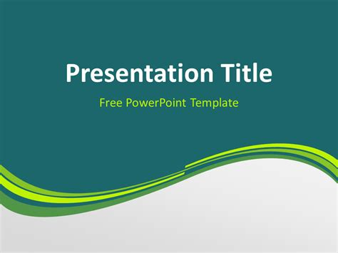 green wave powerpoint template presentationgo com