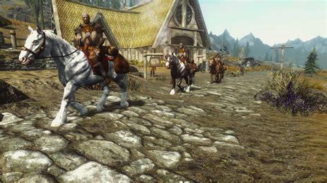 skyrim hothtrooper44 armor extra hopv horses on patrol vanilla 日本語化対応 npc skyrim mod