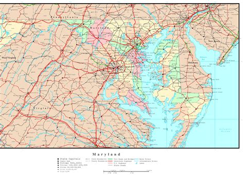 maryland map map of maryland maryland maps mapsof net