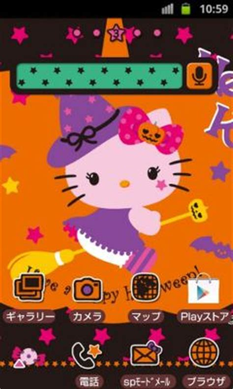 kitty themes for android hello kitty halloween wallpapers themes for android