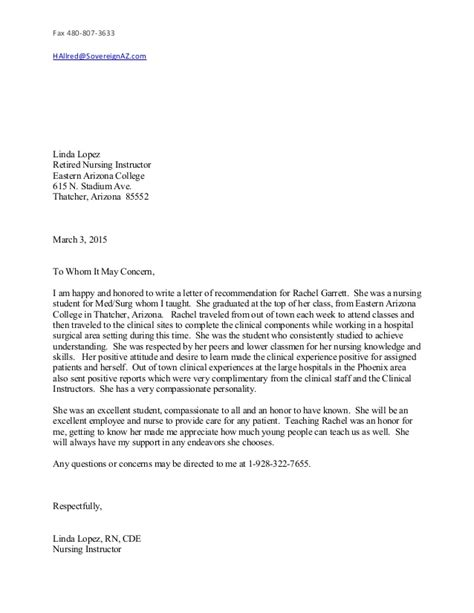 Reference Letter For Nursing Instructor March Resume Letter Of Recommendation