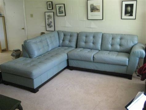 Light Blue Leather Sectional Sofa Blue Leather 2 Pc Sofa Sectional Alton Il For Sale In Carbondale Illinois Classified