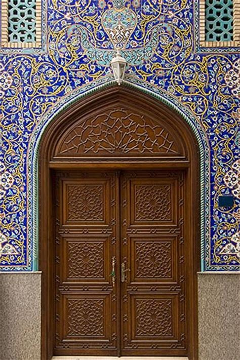 Masjid Door Design | united arab emirates dubai blue tiled doorway iranian