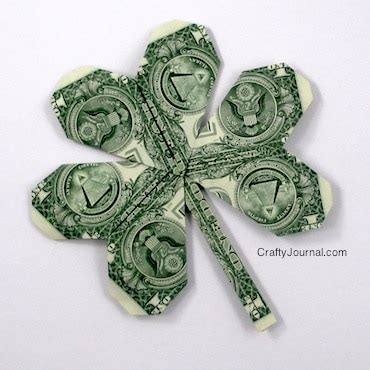 Money Origami Shamrock - shamrock crafts