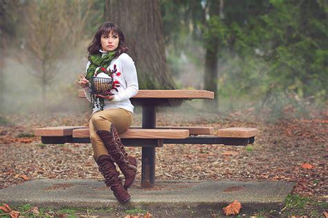 girl on bench best photo of girl desktop wallpaper of bench autumn