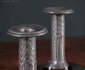 tudric pattern numbers antiques atlas pair tudric pewter candle sticks for