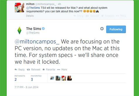 wann erscheint sims 4 für mac honeywell s sims 4 news mailbag cas demos rabbit