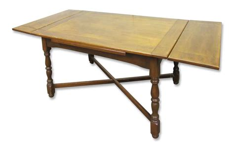 Solid Wood Folding Table Solid Wood Four Leg Folding Table Olde Things