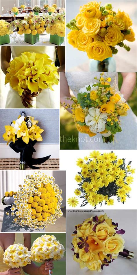 Wedding Bouquet Yellow Green by Yellow Wedding Flowers And Bouquets