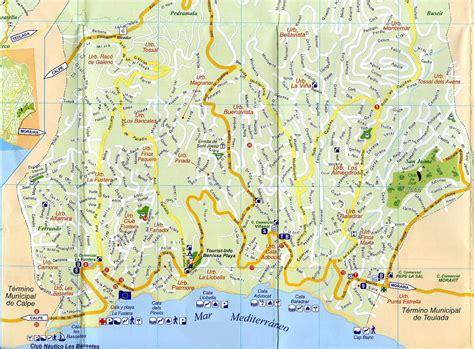 calpe spain map calpe spain map