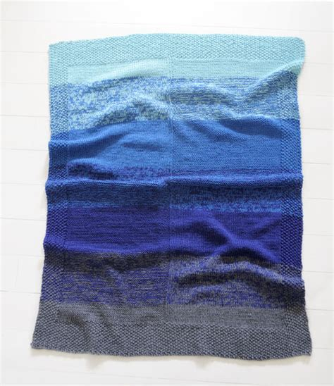 ombre knit blanket cool ombr 233 effect baby blanket just knit with two
