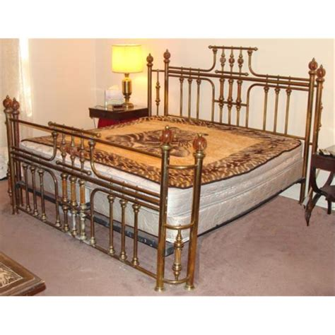 Bed Bigland King Size vintage brass marble poster bed king size frame