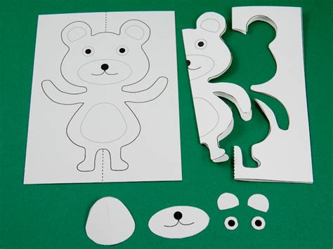 teddy pop up card template free teddy pop up card template free free