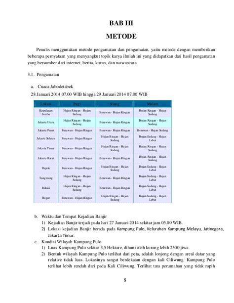format laporan karya ilmiah laporan karya ilmiah banjir jakarta