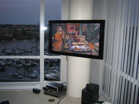 circular pillar tv mounting leslievillegeek tv installation home theatre cabling wiring