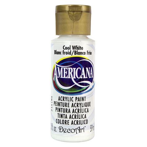 acrylic paint white decoart americana 2 oz cool white acrylic paint da240 3