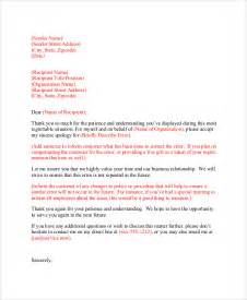 Apology Letter To Customer For Shipping Error Effective Sles To Create An Apology Letter To Customer Vatansun