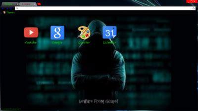 chrome theme hacker hacking chrome themes themebeta