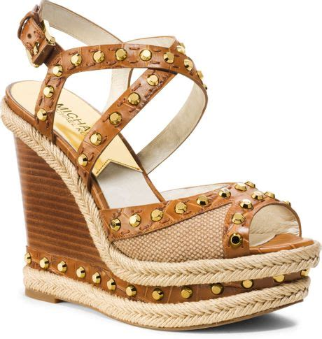Jadde Sandals Aldo michael kors michael jade studded wedge sandal in brown