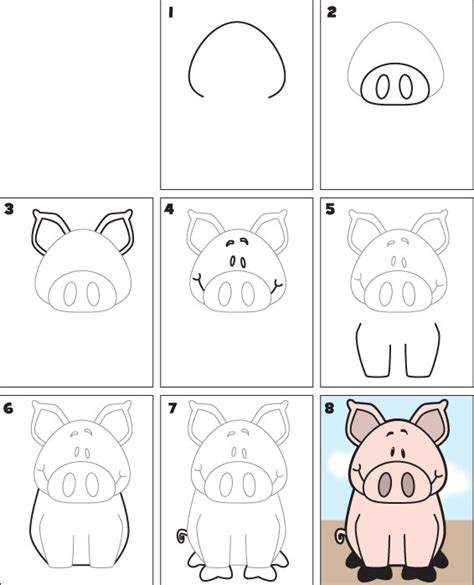 how to a pig how to draw a pig kid scoop