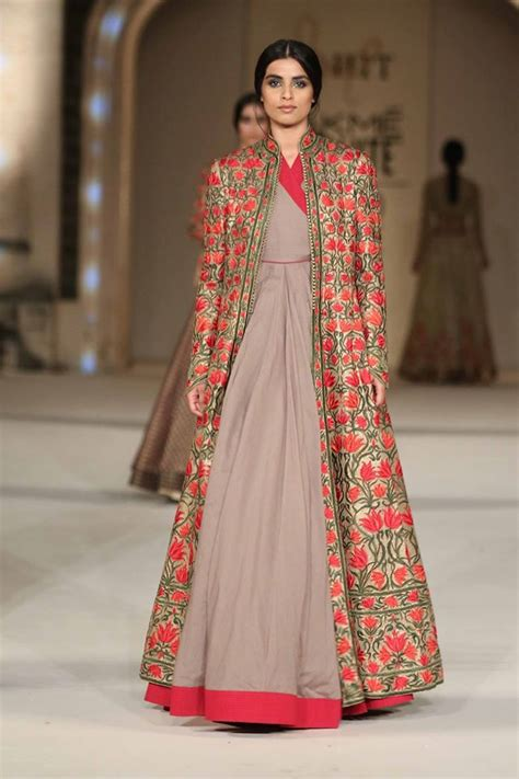 dress design with jacket top 11 trends in designer indian gowns for 2017