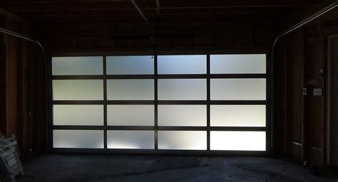 Modern Glass Garage Doors by Garage Wonderful Glass Garage Doors Design Frosted Glass