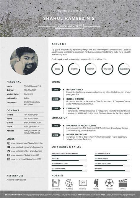 Architectural Resume Cv Cv Lebenslauf Lebenslauf Bewerbung Architecture Resume Template