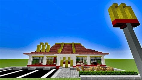 how to build a shop burger shop minecraft project