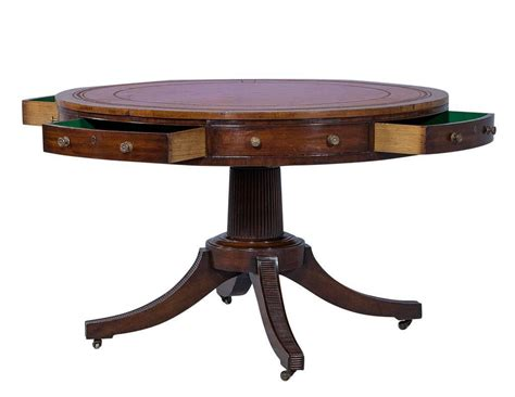 regency period mahogany rent table with inlaid