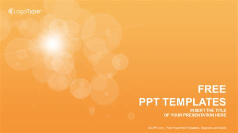 powerpoint templates abstract orange bubbles abstract ppt templates
